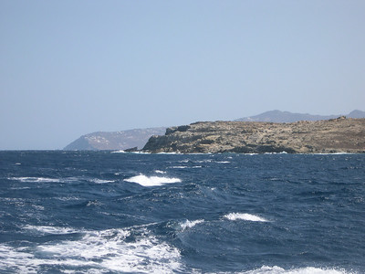 We arranged to take a small boat from Mykonos to the nearby island of Delos (that's Mykonos in the background). Delos is uninhabited, but represents one of the best preserved ruins of ancient Greek civilization from more than 3000 BC.