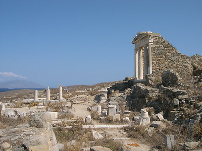 Ruins on the island of Delos.