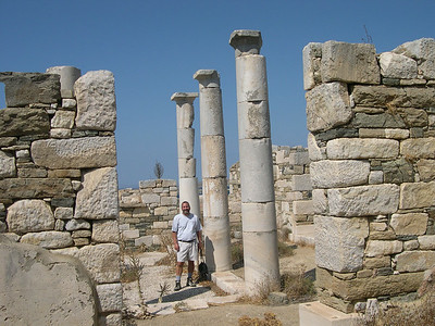 Joe among the ruins of a palace on the island of Delos.