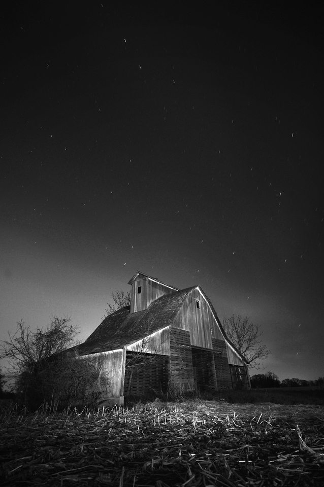 Night time barn in Eastern Iowa.