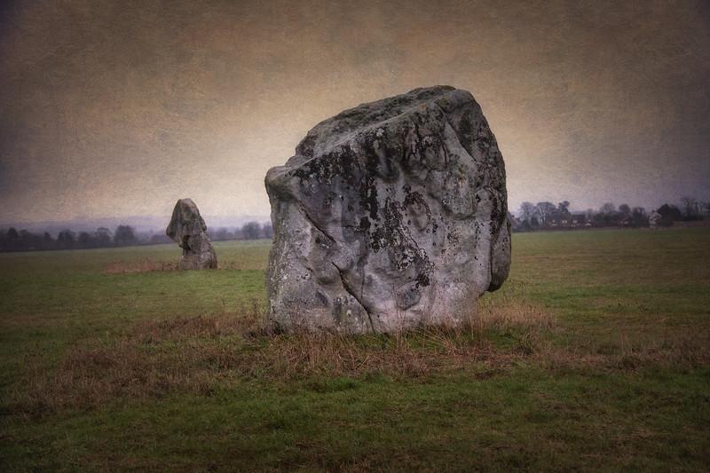 Adam and Eve Longstones, near Avebury, WIltshire, UK