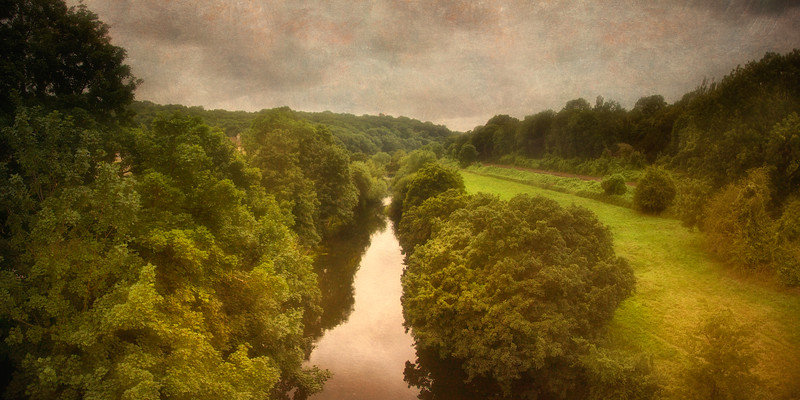 View From The Avoncliff Aqueduct Canal Bridge