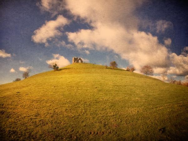 Burrow Mump, Burrowbridge, Somerset, Great Britain