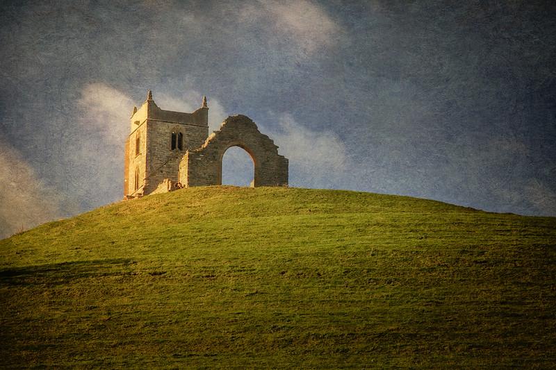 St Michael's Church, Burrow Mump, Burrowbridge, Somerset, Great Britain