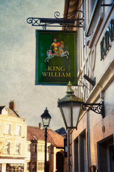 Pub Sign, Glastonbury, Somerset