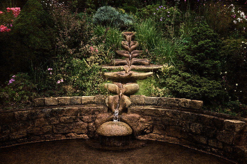 The Chalice Well and Gardens, Glastonbury, Somerset, England