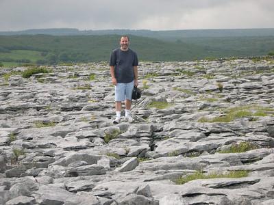 The rocky terrain of The Burren (boireanne) in western County Clare.