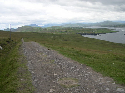 The famous Ring of Kerry on the Iveraugh Peninsula.