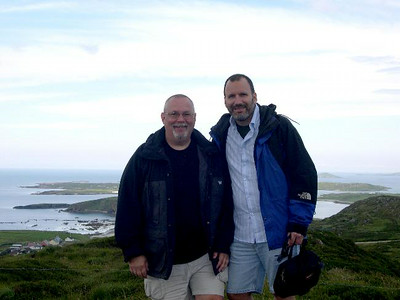 Ed and Joe in County Galway, overlooking the Atlantic Ocean.