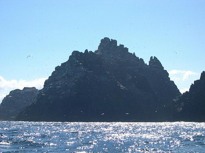 Little Skellig, uninhabited except for about 10 million puffins and terns.