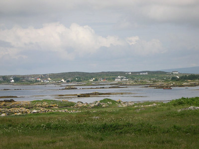 Looking out across Kilkieran (Cill Chiaráin) Bay in County Galway.