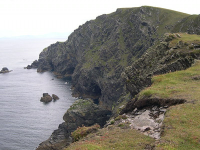 The rugged Irish coastline in western County Clare.