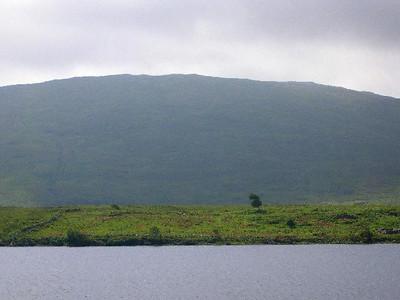 The Irish countryside above Kilkieran Bay.