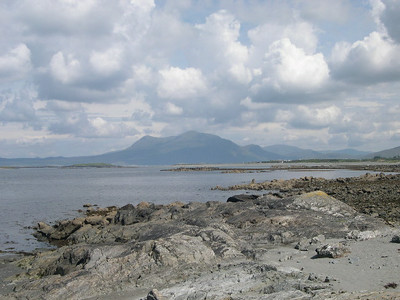 County Galway in Western Ireland, looking north towards the Connemara.