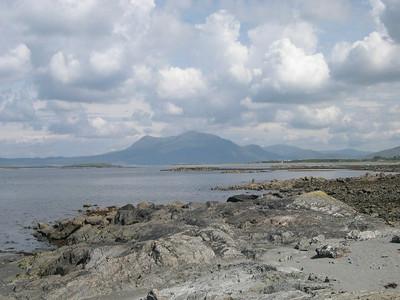 County Galway in Western Ireland, looking north towards the Connemara.