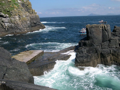 """Approaching the landing pad at Skellig Michael â€"""" it was kind of like jumping from a moving trampoline onto a slippery sheet of ice…"""