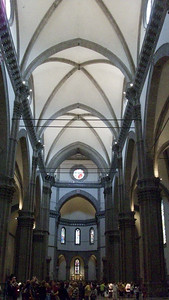 Inside the Duomo in Florence.