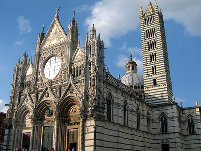 The Duomo in Siena; construction began in 1136.