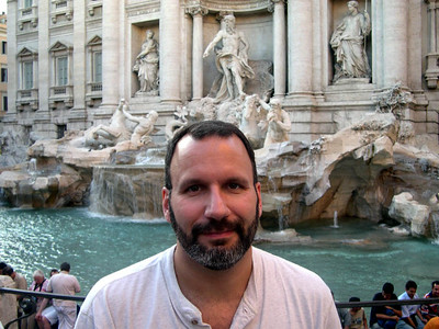 Roma was the first stop on this year's trip. Here's Joe at the Trevi Fountain.