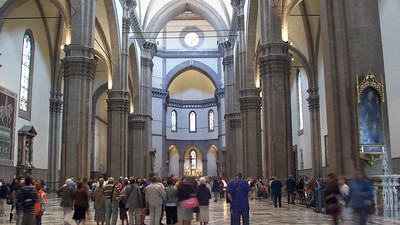 The Duomo in Florence (1359), is the fourth largest cathedral in Europe (behind St. Peter's in Rome, Notre Dame in Paris and the Duomo in Milano).
