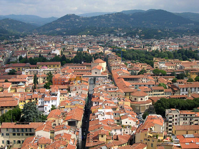 Firenze, looking north towards Fiosele from the top of the Duomo.