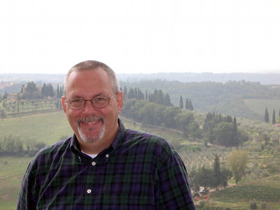 Here's Ed at the top of Torre Grossa in San Gimignano.