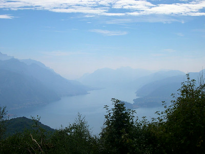 Monte Bregno, on the trail to Refugio Menaggio (looking South towards Bellagio)