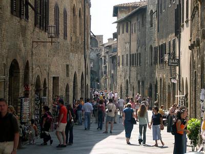 Via Capassi in San Gimignano.