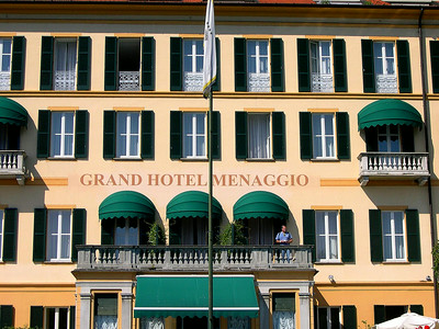 The Grand Hotel Menaggio (1824) on the western shore of Lago di Como