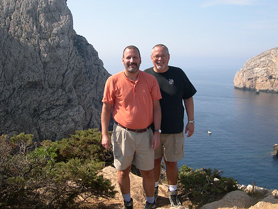 Joe (left) and Ed (right) at Capo Caccia.