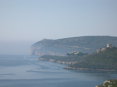Approaching Capo Caccia on the coast outside Alghero.