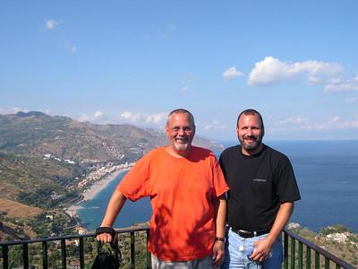 Ed (left) and Joe (right) in Taormina.
