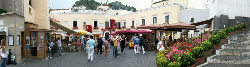 The Piazetta in Capri -- the center of all social activity on the island.
