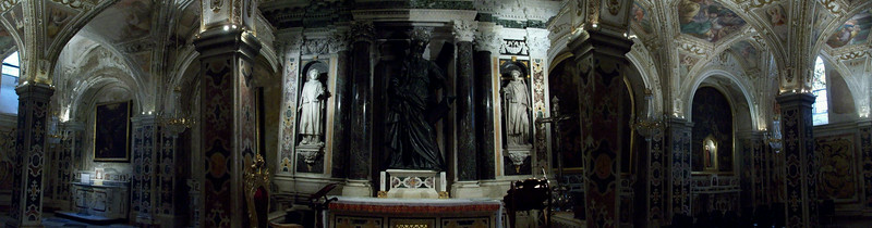In the crypt beneath the Duomo where the remains of St. Andrew are kept.