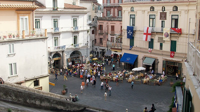 Looking down onto the Piazza del Duomo in Amalfi.