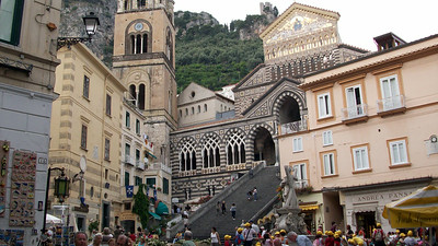Via Nazionale is the main commercial street in the heart of Amalfi.