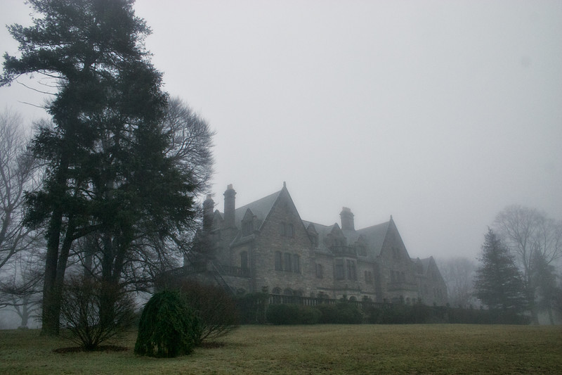 Mill Neck Manor in Fog, Oyster Bay, Suffolk County, Long Island, New York
