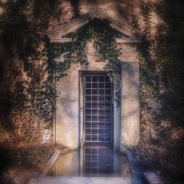 Entrance to Ferguson's Castle, a.k.a. The Monastery, Huntington Bay, Suffolk County, Long Island, New York