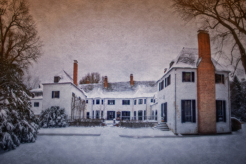 Chelsea Manor from the Rear, Muttontown Preserve, East Norwich, Town of Oyster Bay, Nassau County, New York