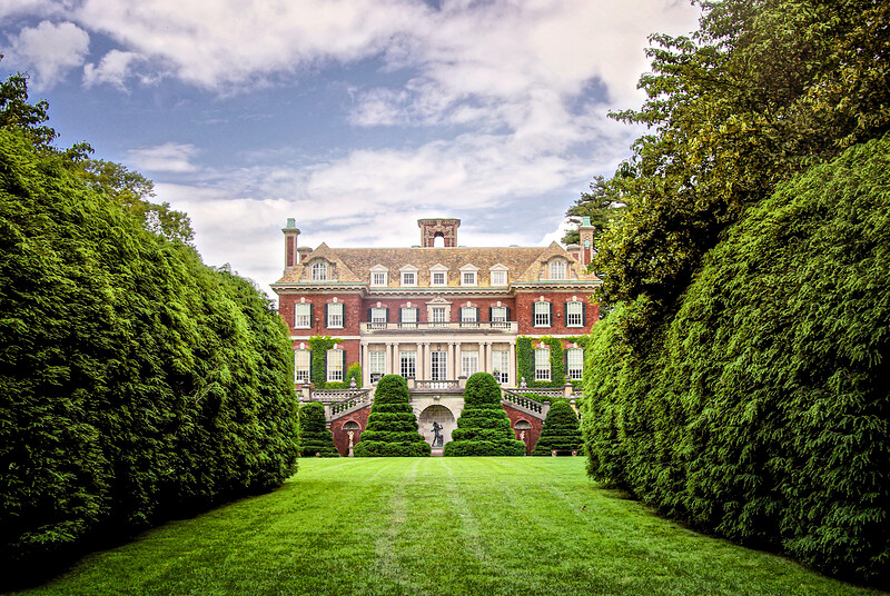 Gold Coast Estates: South Allée. Westbury House, built 1906 from the Rear. Nassau County, Long Island, New York