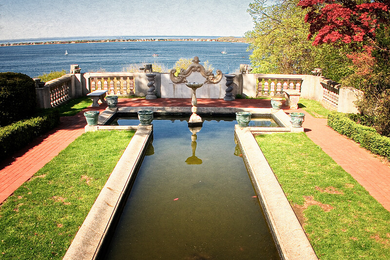 Gold Coast Architecture: Goldfish Pond, The Eagle's Nest, Long Island Home of William K. Vanderbilt, Centerport, Suffolk County, NY