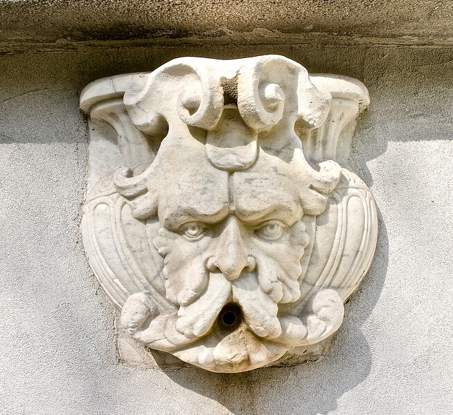 Gold Coast Architecture: Green Man Fountain, The Eagle's Nest, Long Island Home of William K. Vanderbilt, Centerport, Suffolk County, NY