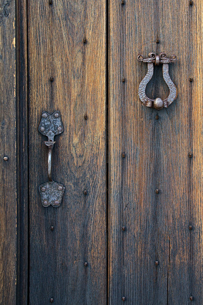 Door Knocker and Door Handle, The Old Place, The Old Place, c. 1680, Cutchogue, Suffolk County, North Fork of Long Island, New York