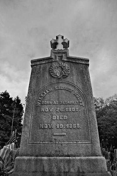 The Grave of William Sidney Mount, Caroline Church of Brookhaven, East Setauket, Suffolk County, Long Island, New York