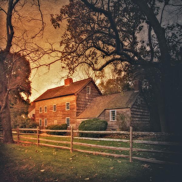 Thompson House, ca 1700, Setauket, Long Island, Suffolk County, New York
