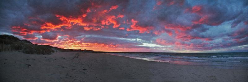 Cape Cod Landscapes: Sesuit Harbor Beach Sunset, East Dennis, Barnstable County, Cape Cod, MA