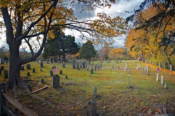 Cape Cod Landmarks: First Parish Brewser Cemetery, Main Street (Route 6A), Brewster, Barnstable County, Cape Cod, MA
