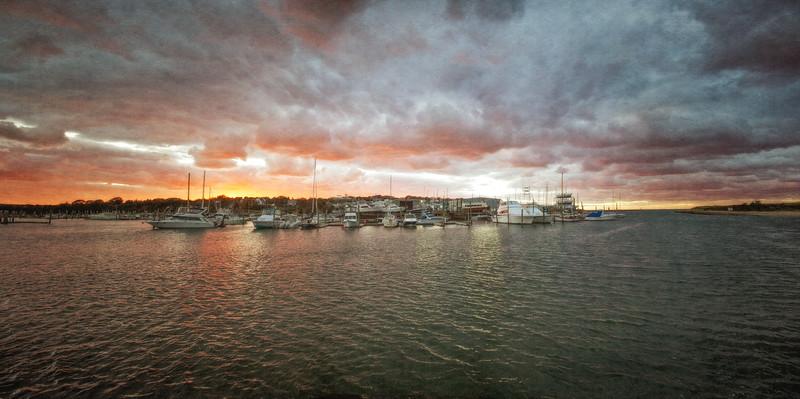 Cape Cod Landscapes: Sesuit Harbor Sunset, East Dennis, Barnstable County, Cape Cod, MA