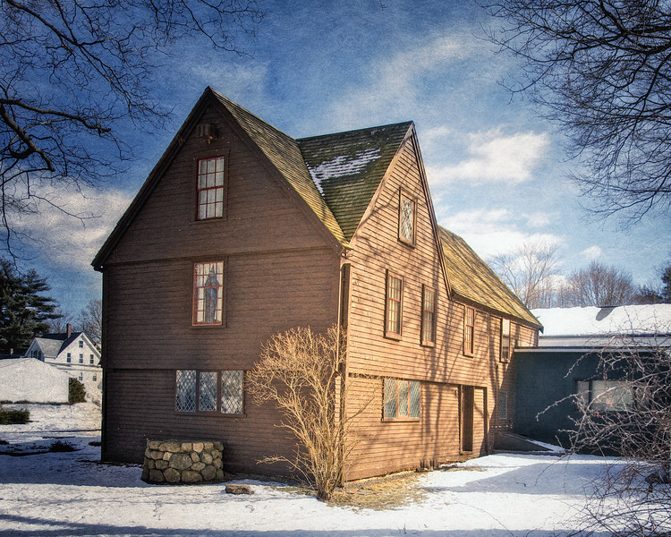 Salem Witch Hunt Locations:  The Reverend John Hale's wife Mary was accused here of withcraft by Mary Herrick in 1692. Claflin-Gerrish-Richards House, c. 1690, Wenham Museum, Wenham, Essex County, Massachusetts