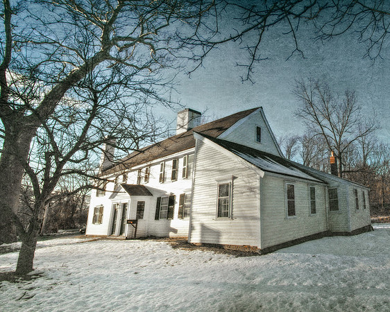 Salem Witch Hunt Locations: Home of Sarah Holten, who testified against Rebecca Nurse in 1692. Judge Samuel Holten House, c. 1670. Danvers, Formerly Salem Village, Essex County, Massachusetts